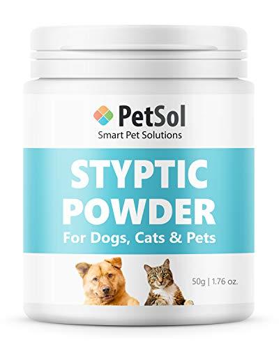 PetSol Styptic Pulver für Hunde, Katzen, Vögel, Kaninchen & Haustier. Hilft...