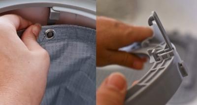 Im Test ist die Liner-Befestigung des Modkat XL sehr schwergängig